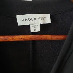 Amour Vert Sweaters - Amour Vert Yara Wrap Cardigan in Black